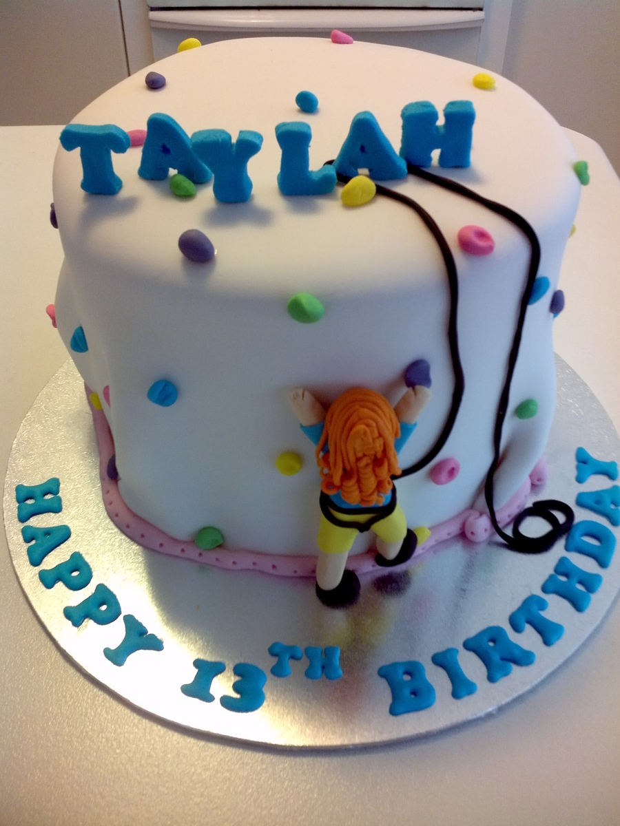 Girls Rock Climbing Birthday Cake