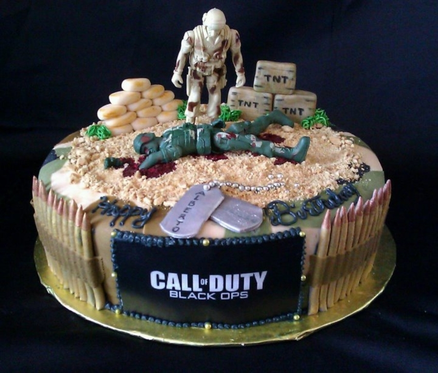 Call of duty cake for Black ops 3 decorations