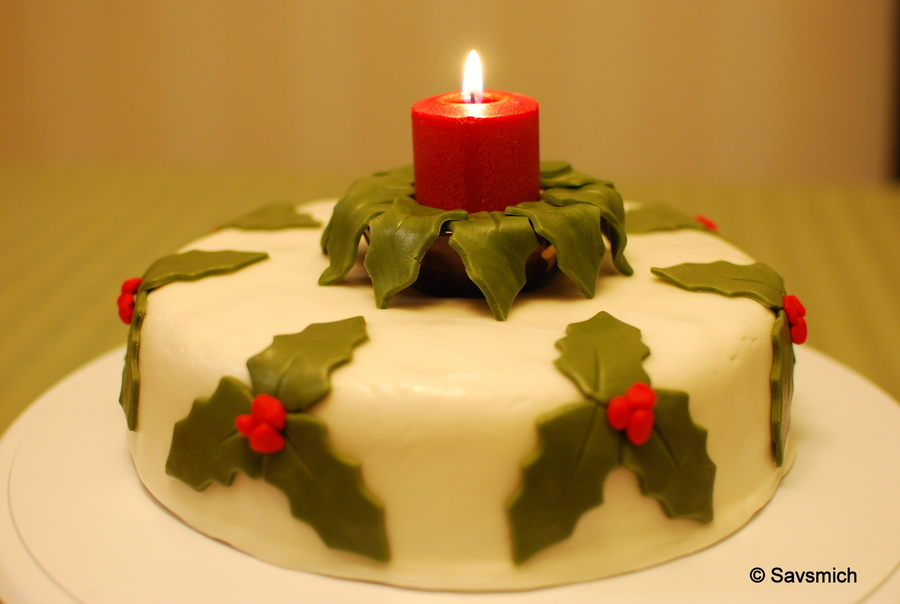 Christmas Fruit Cake With Buttercream Fondant on Cake Central