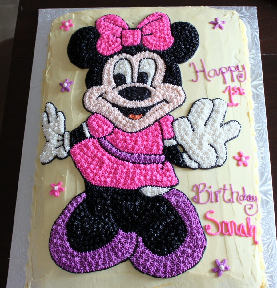 Minnie Mouse Birthday Cake Cakecentral Com