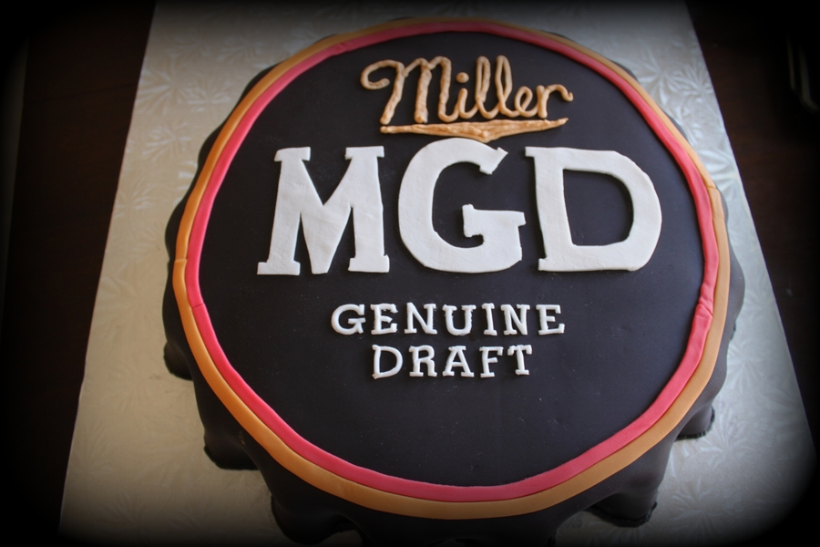 Mgd Beer Cap Birthday Cake On Central