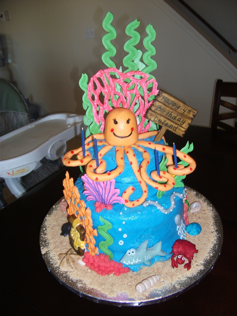 Octopus Sea Cake on Cake Central