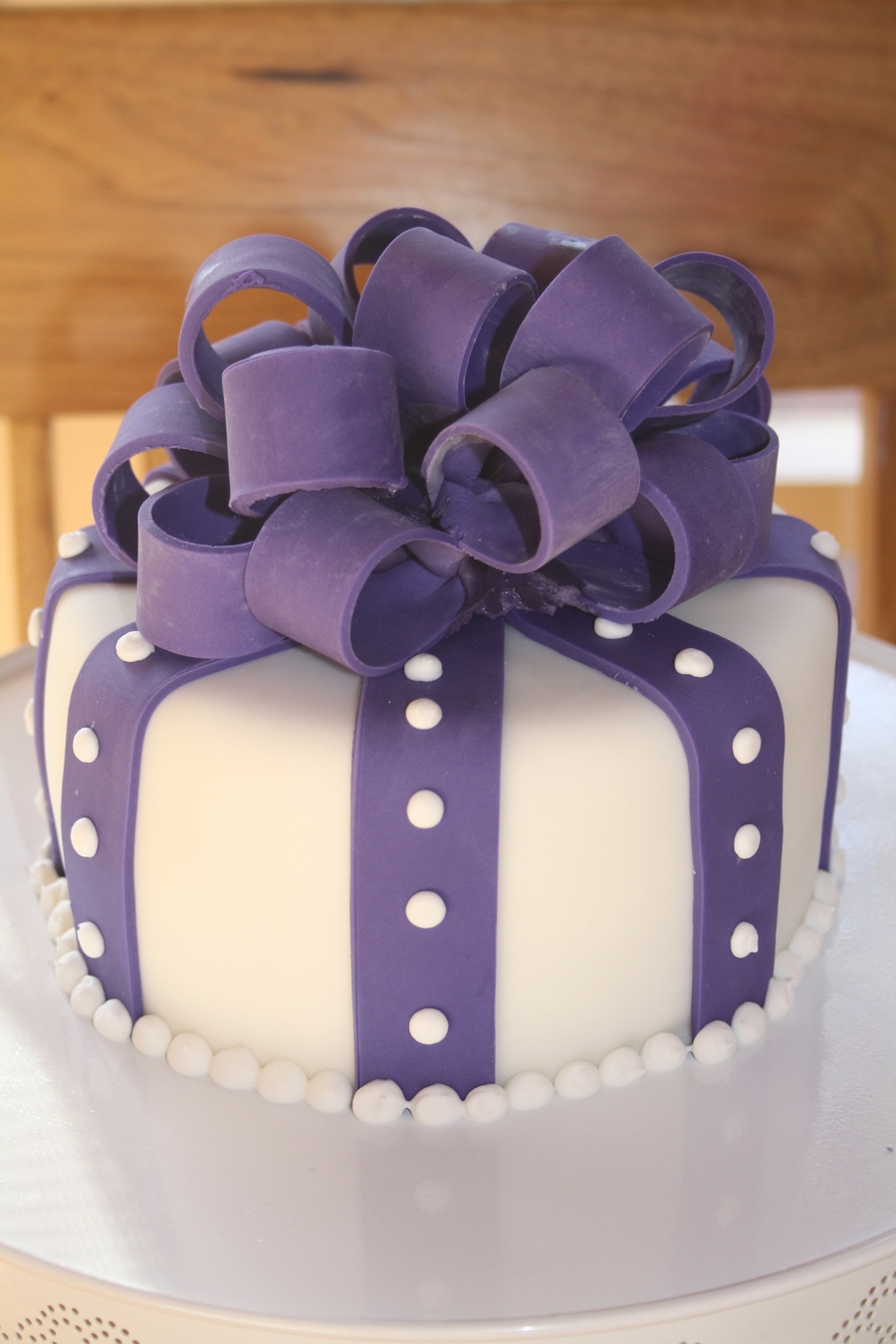 Purple Present Cake on Cake Central