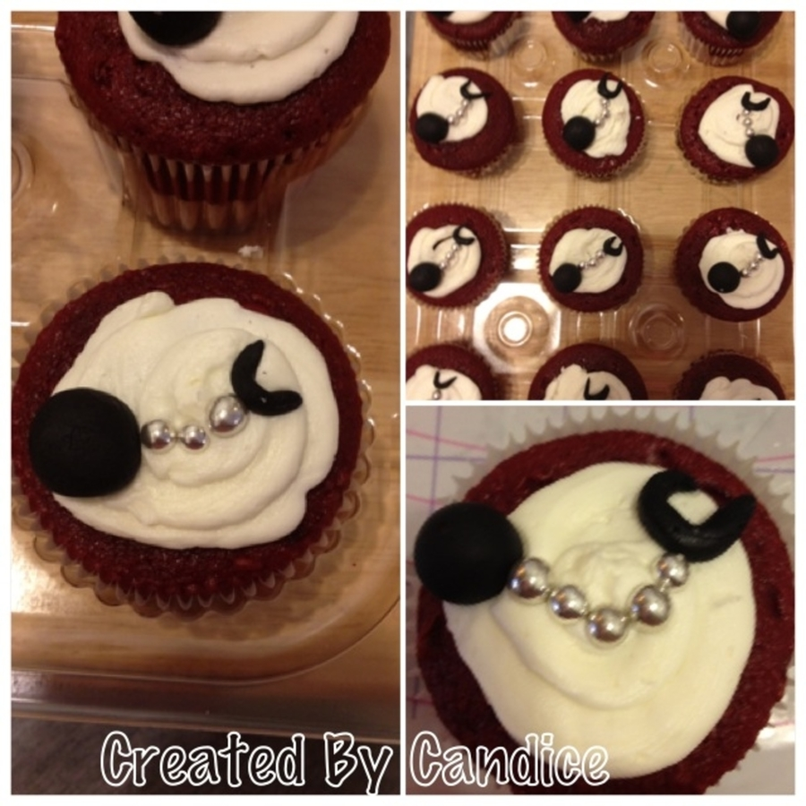 Ball And Chain Cupcakes on Cake Central