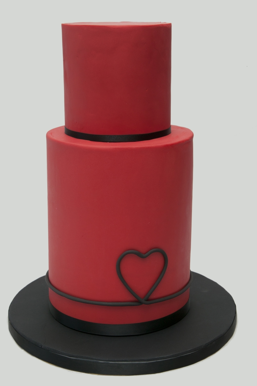 Red Heart Wedding Cake  on Cake Central