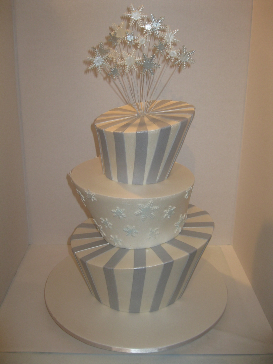 Winter Wonderland Madhatter Wedding Cake - CakeCentral.com