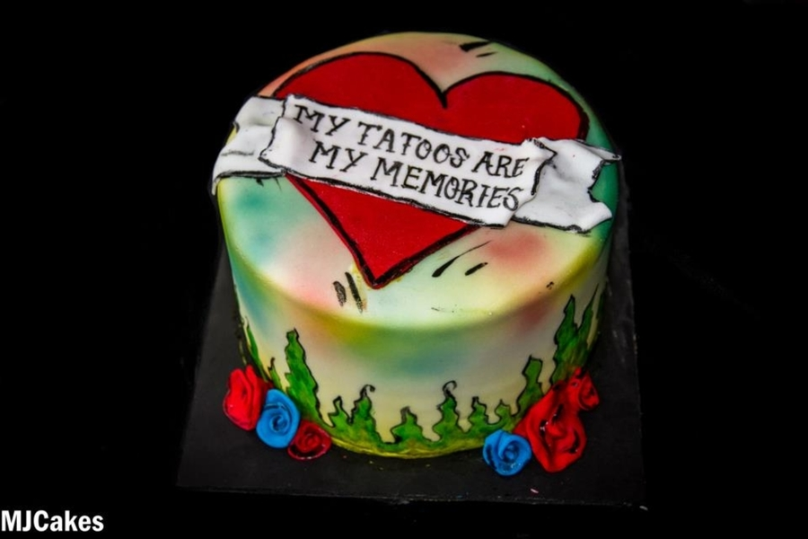 Cake Fail - Tattoo Cake on Cake Central