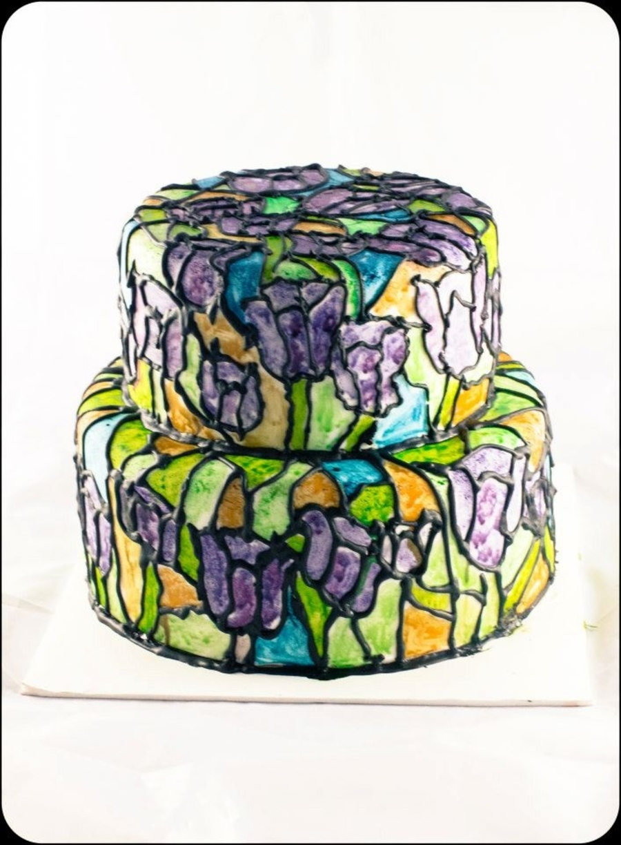 Stained Glass Wedding Cake on Cake Central