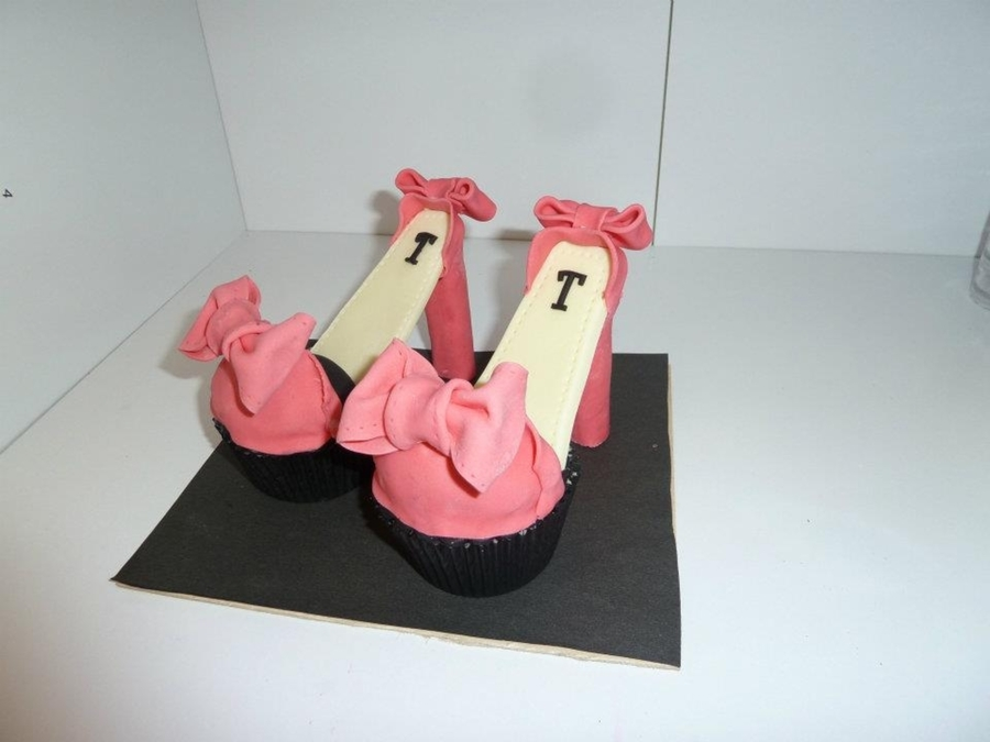 Pink Heel Cupcakes on Cake Central