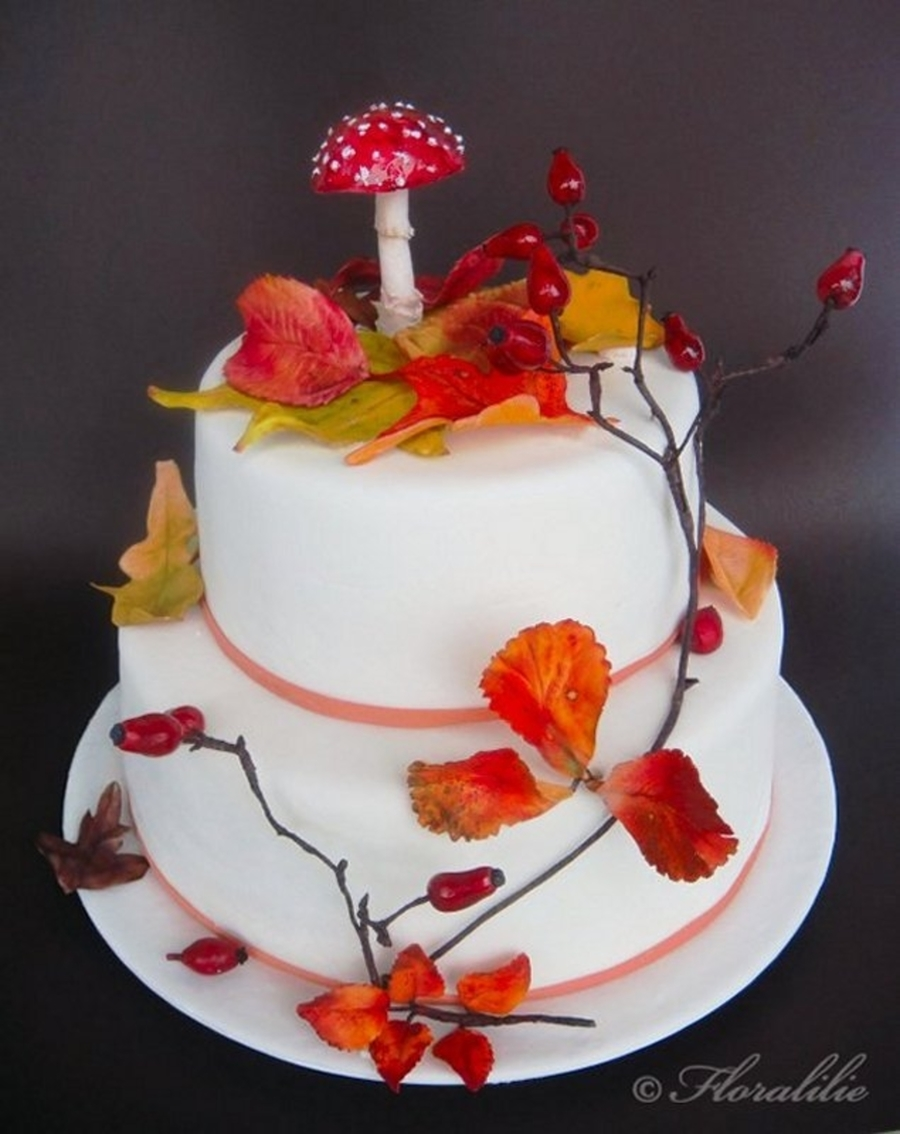 Autumn Cake With Fly Agaric Mushroom Cakecentral Com