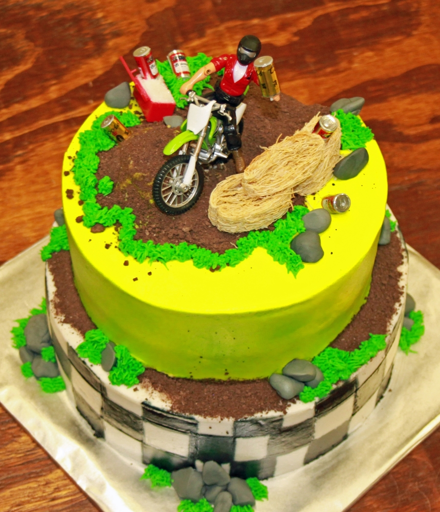 Astonishing Dirt Bike Birthday Cake Cakecentral Com Funny Birthday Cards Online Overcheapnameinfo