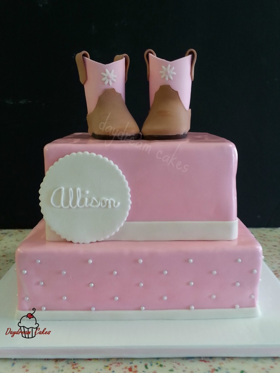 Lil Cowgirl Gumpastefondant Cowgirl Boots on Cake Central