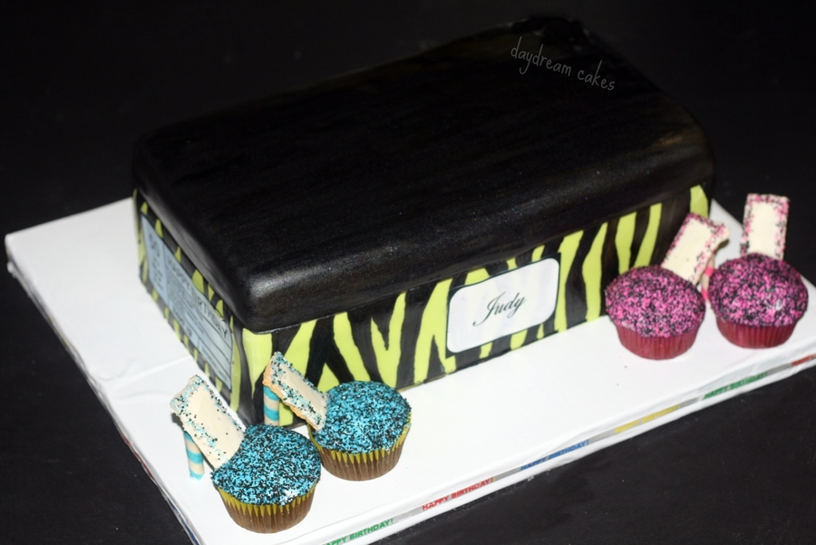 Shoe Box With High Heel Cupcakes on Cake Central