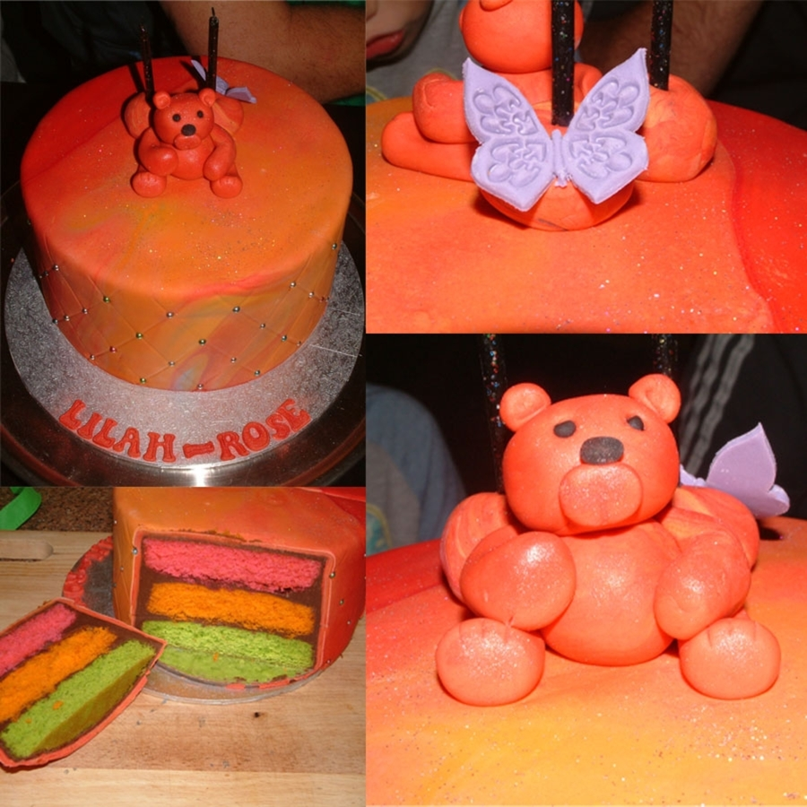 Orange Teddy Cake on Cake Central