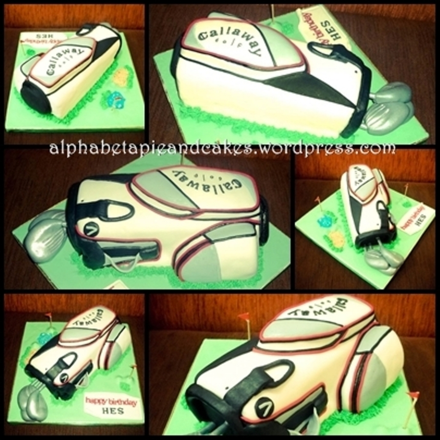 Golf Bag Cake on Cake Central