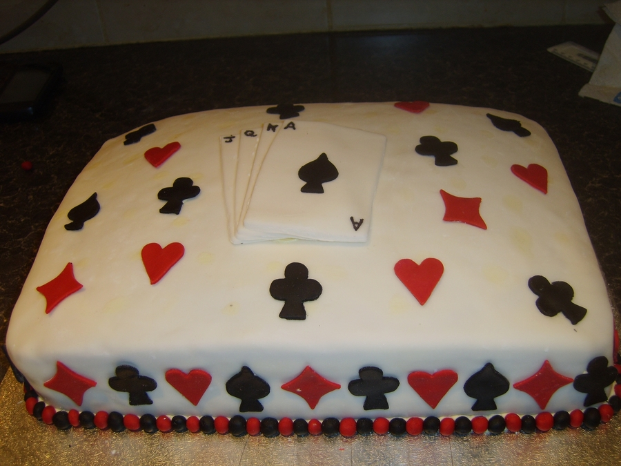 Bridge Card Cake Cakecentral Com
