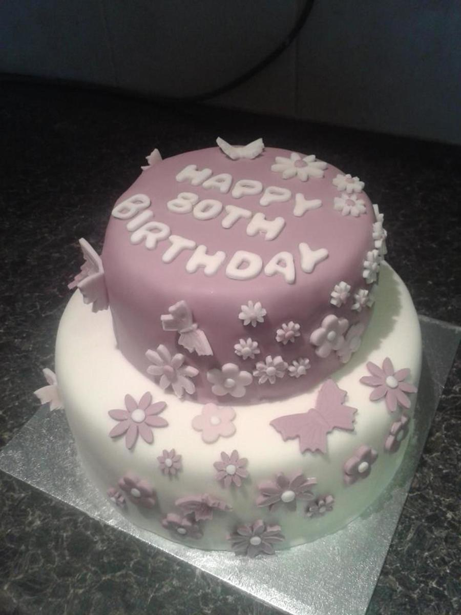 Excellent 80Th Birthday Cake For My Mother In Law Cakecentral Com Personalised Birthday Cards Cominlily Jamesorg