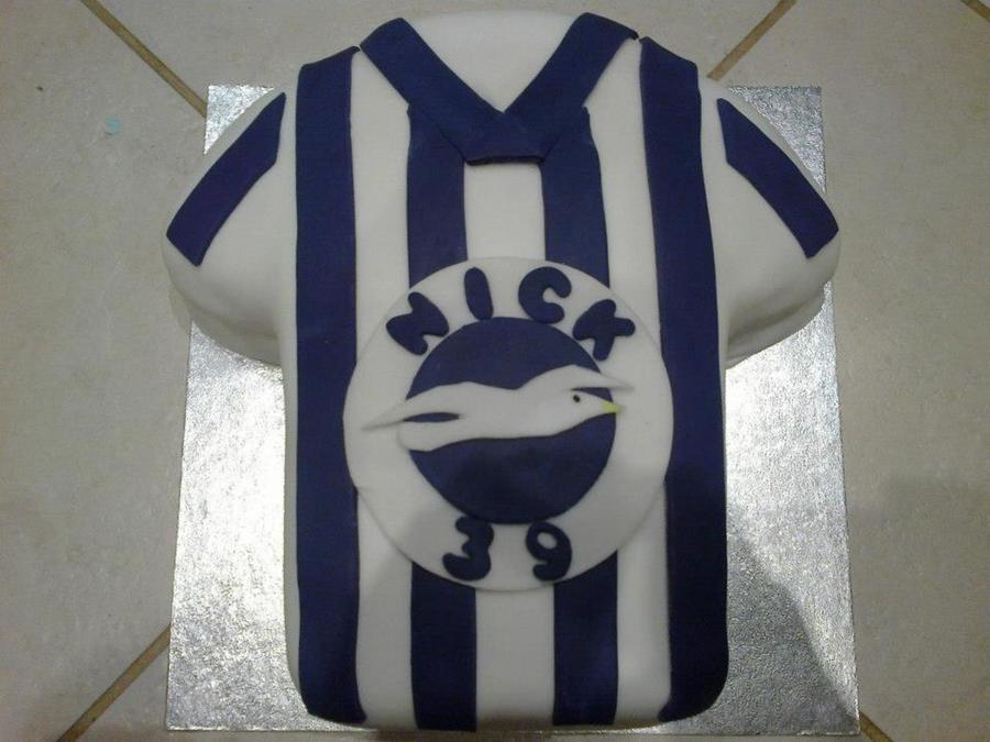 Brighton And Hove Albion Football Shirt on Cake Central