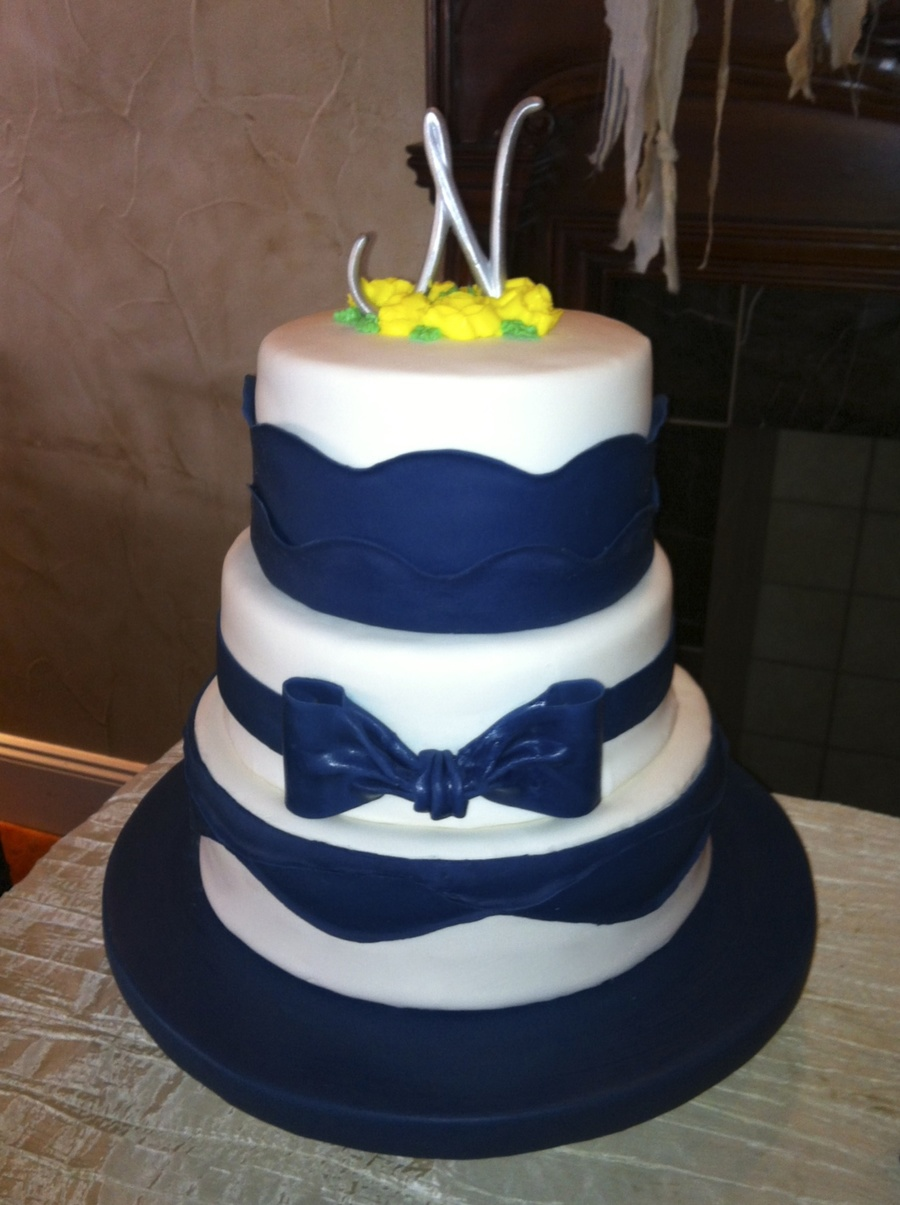 Wedding Cake For A Beautiful Young Couple Each Layer Is