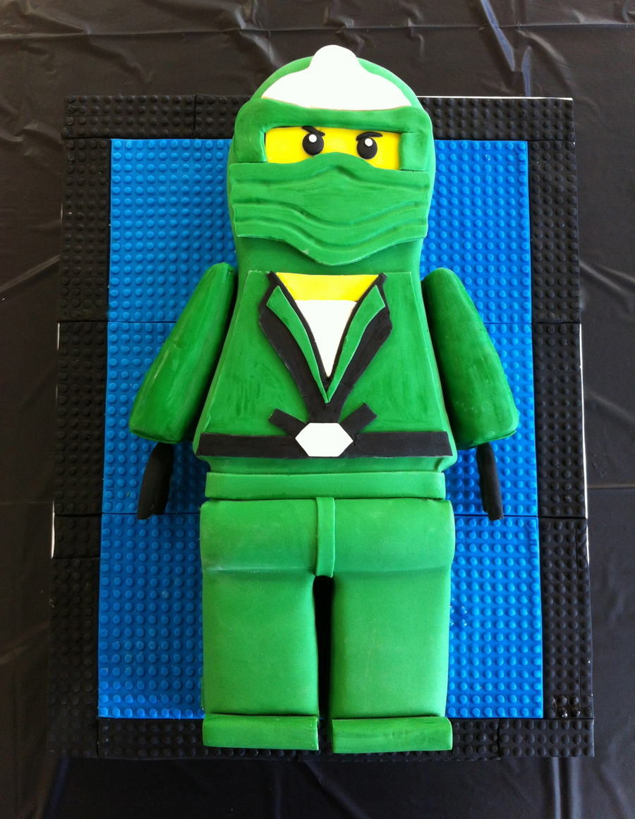 Green Ninjago on Cake Central