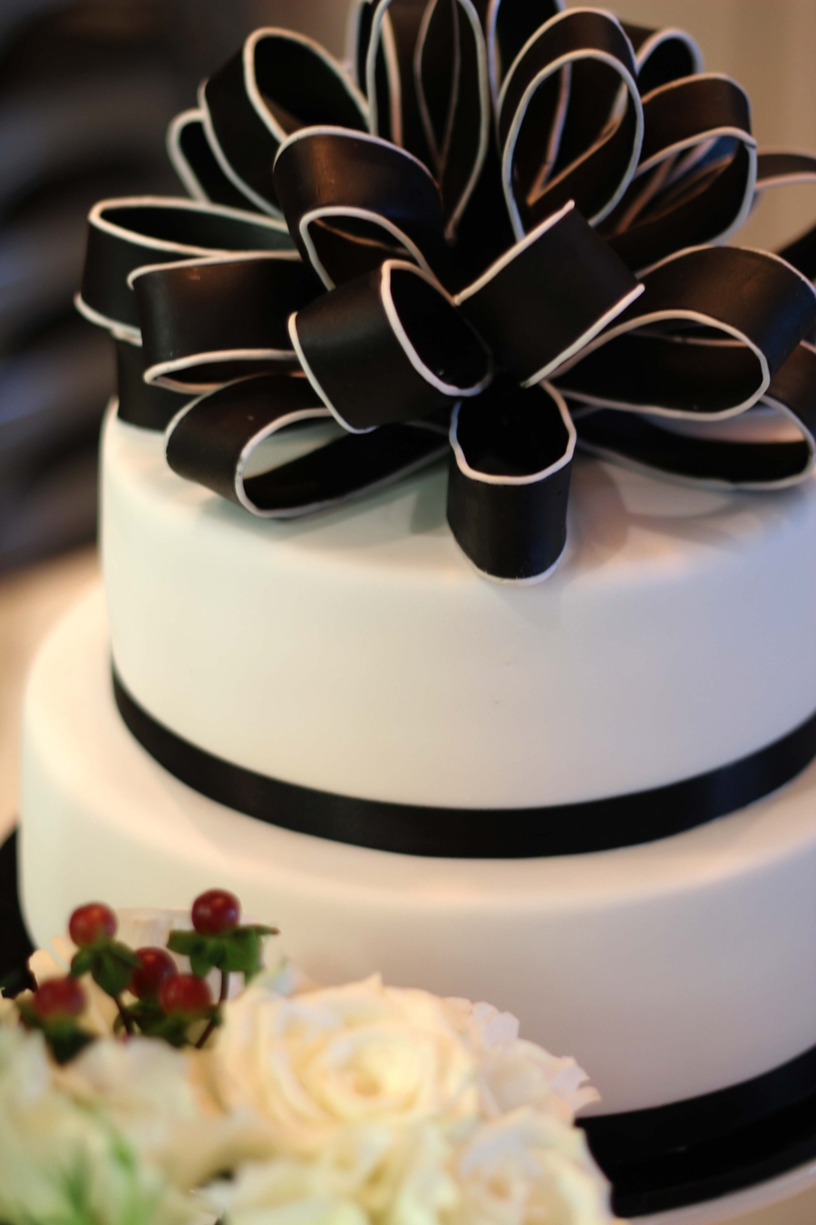 2 Tier Loopy Bow Wedding Cake on Cake Central