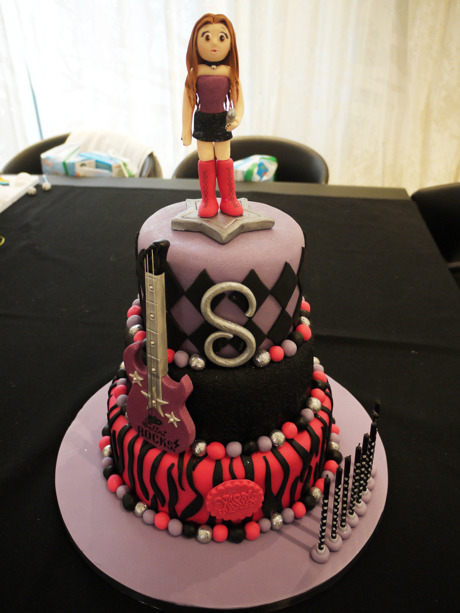 Rock And Roll  Birthday Cake