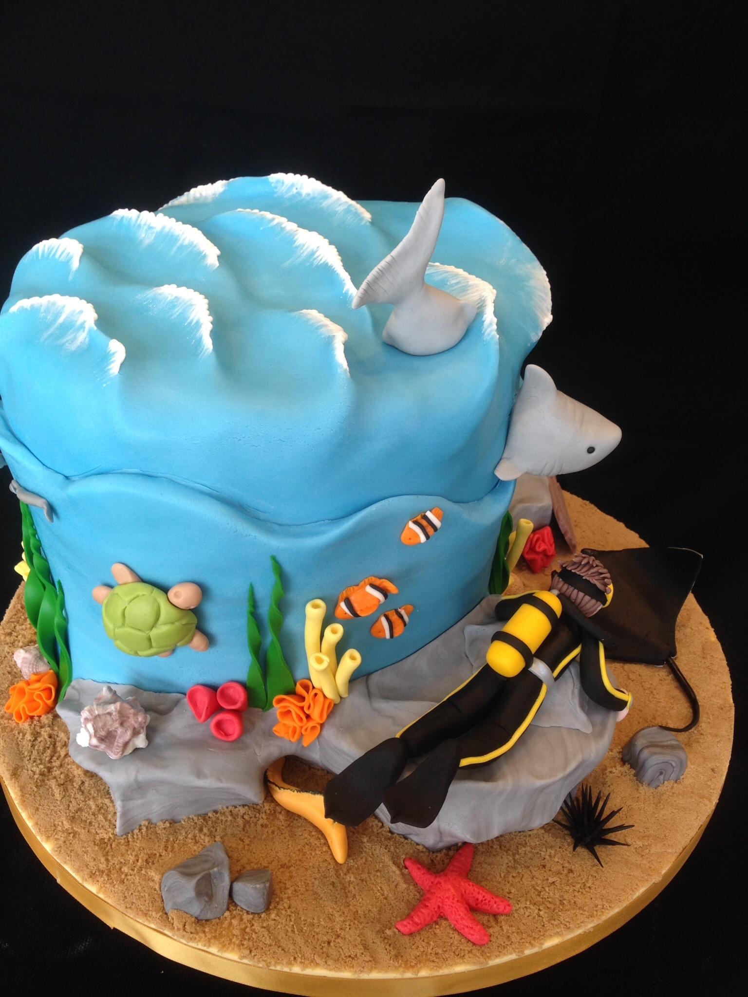 How To Make A Scuba Diver Cake