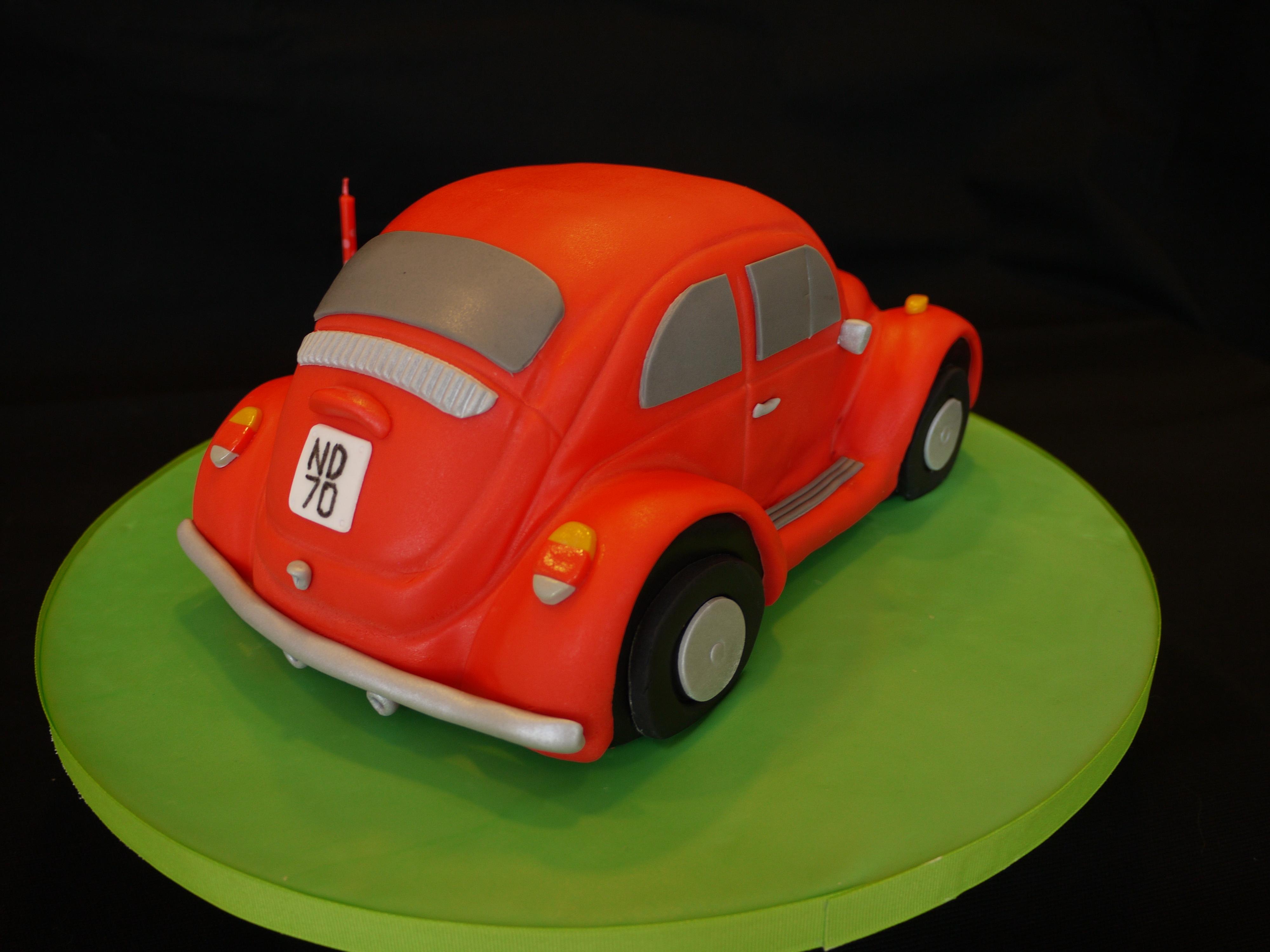 volkswagen beetle cake