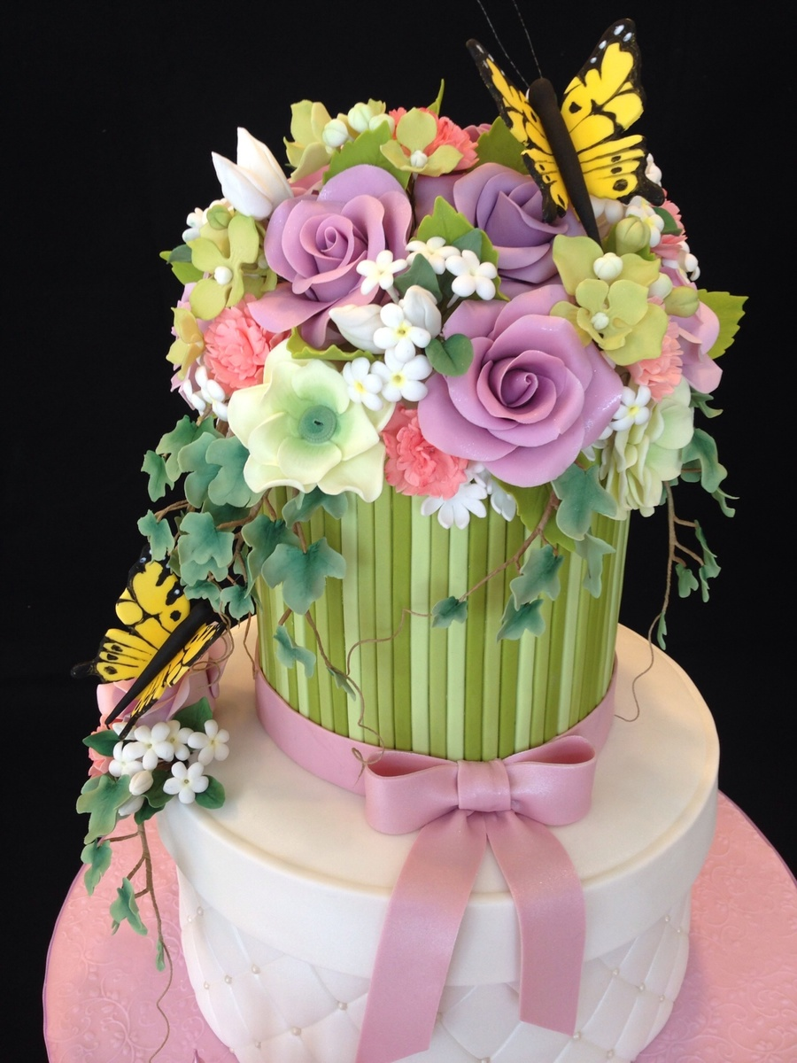 Flower bouquet cake cakecentral izmirmasajfo