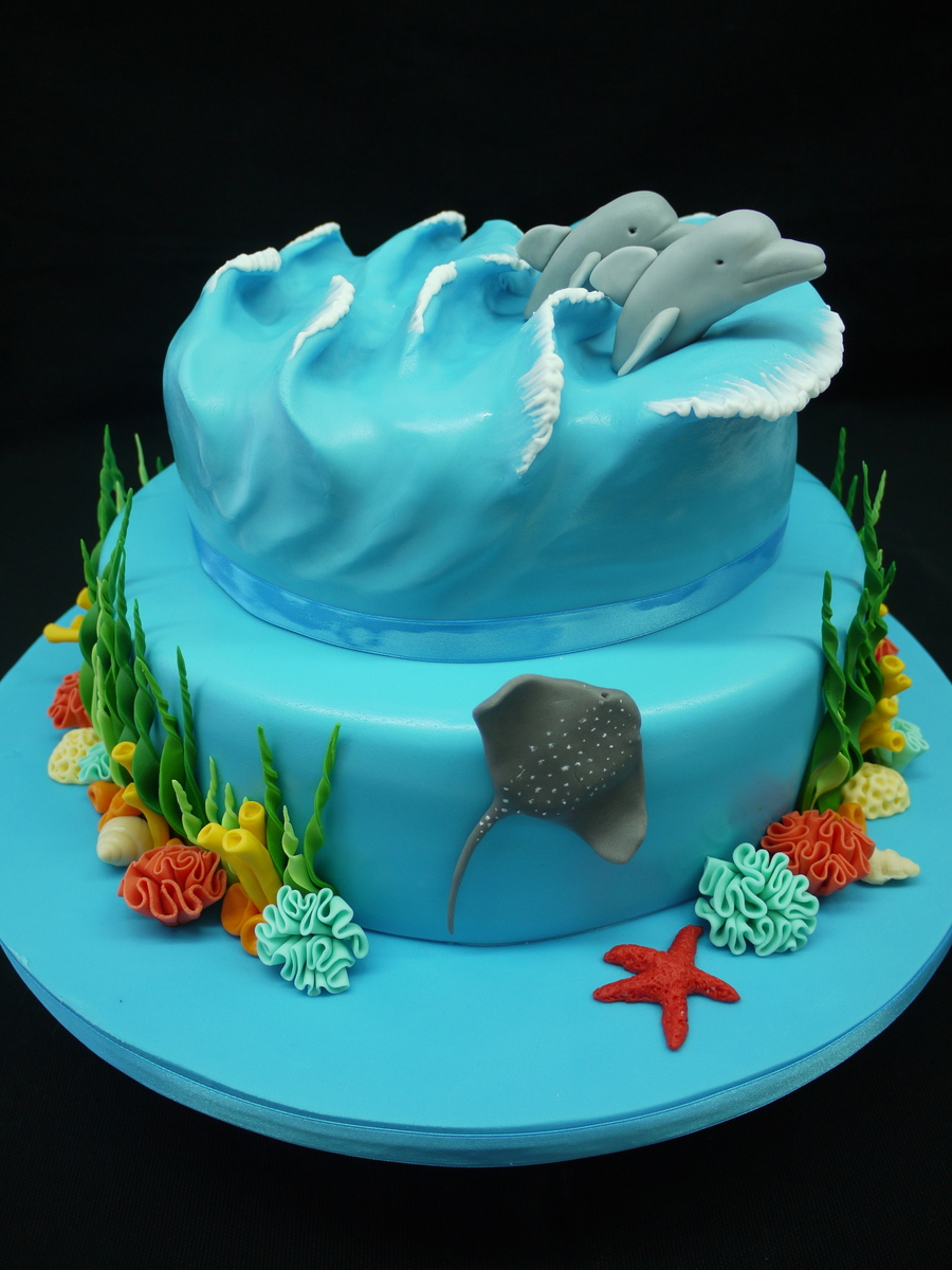 Cake Decorating Making Waves : Ocean Inspired Cake - CakeCentral.com
