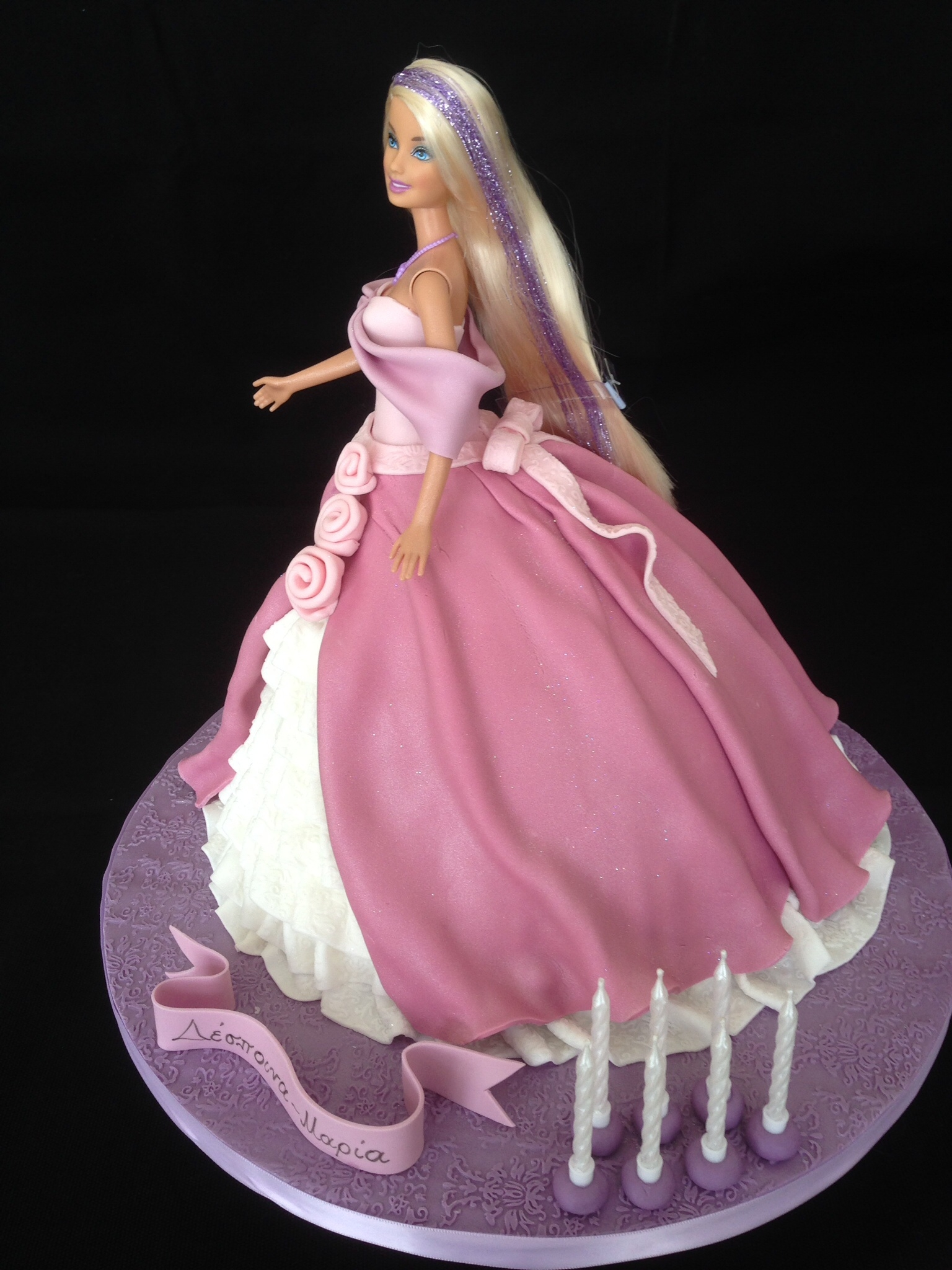 Barbie Pink Princess Cake Cakecentral Com