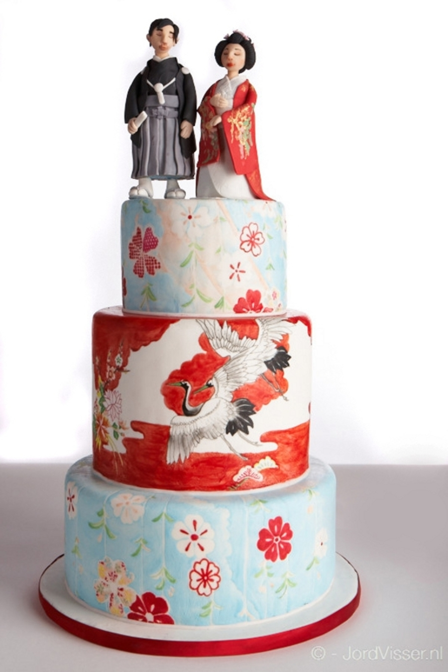 Painted Japanese Wedding Cake , CakeCentral.com