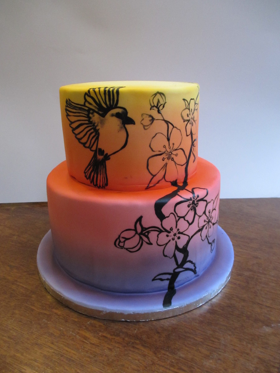 Airbrushed Cake With Painting on Cake Central