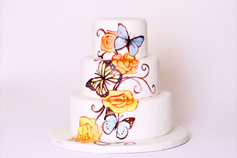 Butterflies And Roses on Cake Central