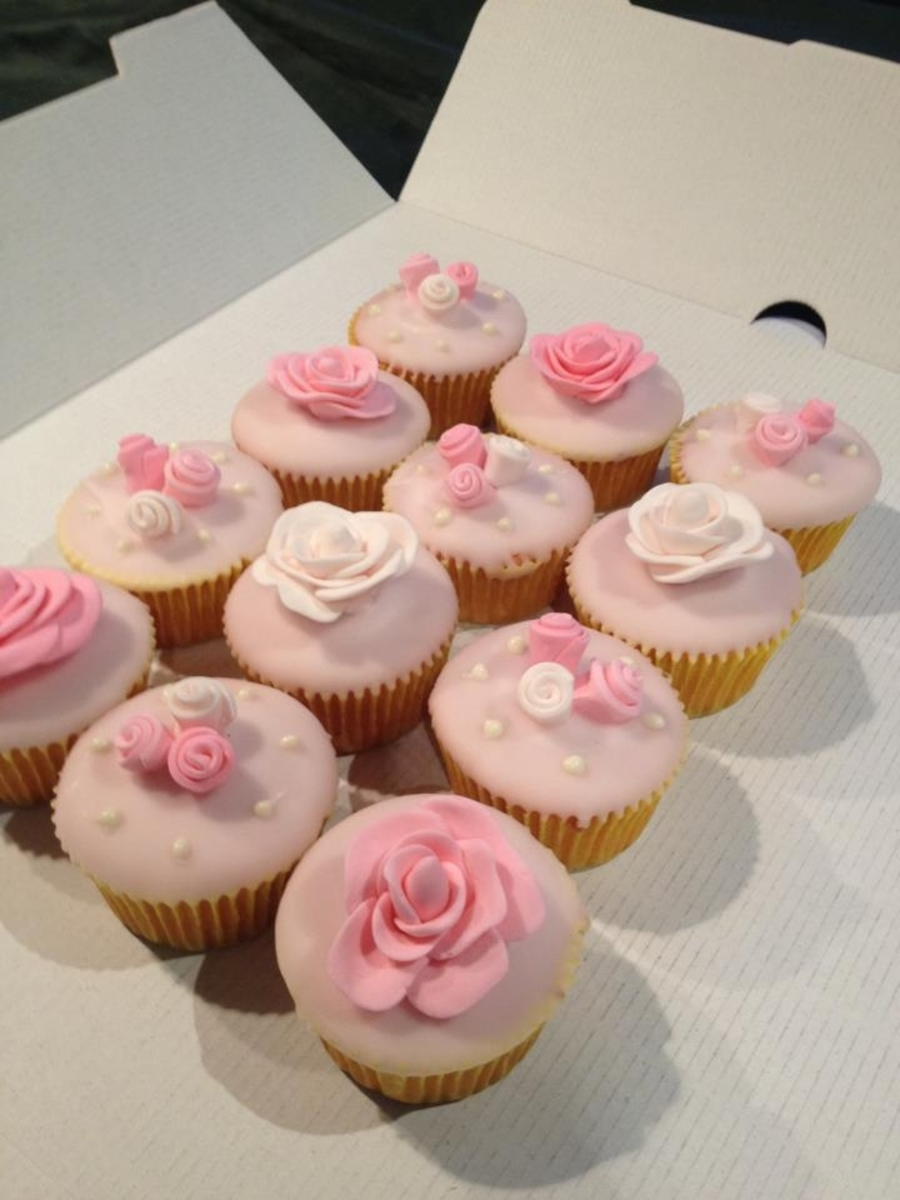 Pink On Pink Flower Cupcakes Cakecentral