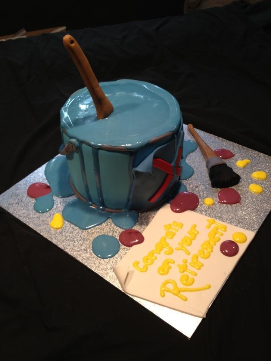 Paint Can Retirement Cake on Cake Central