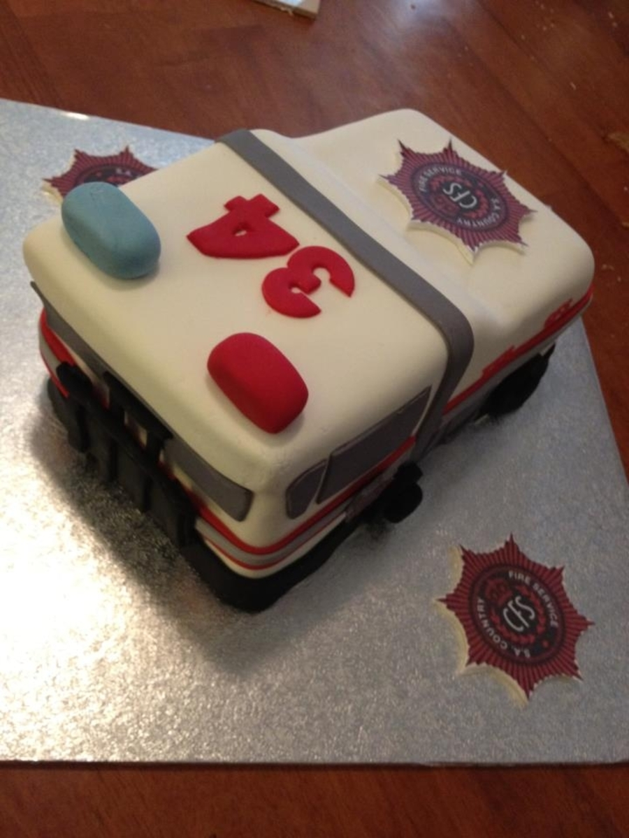 Cfs Firetruck on Cake Central