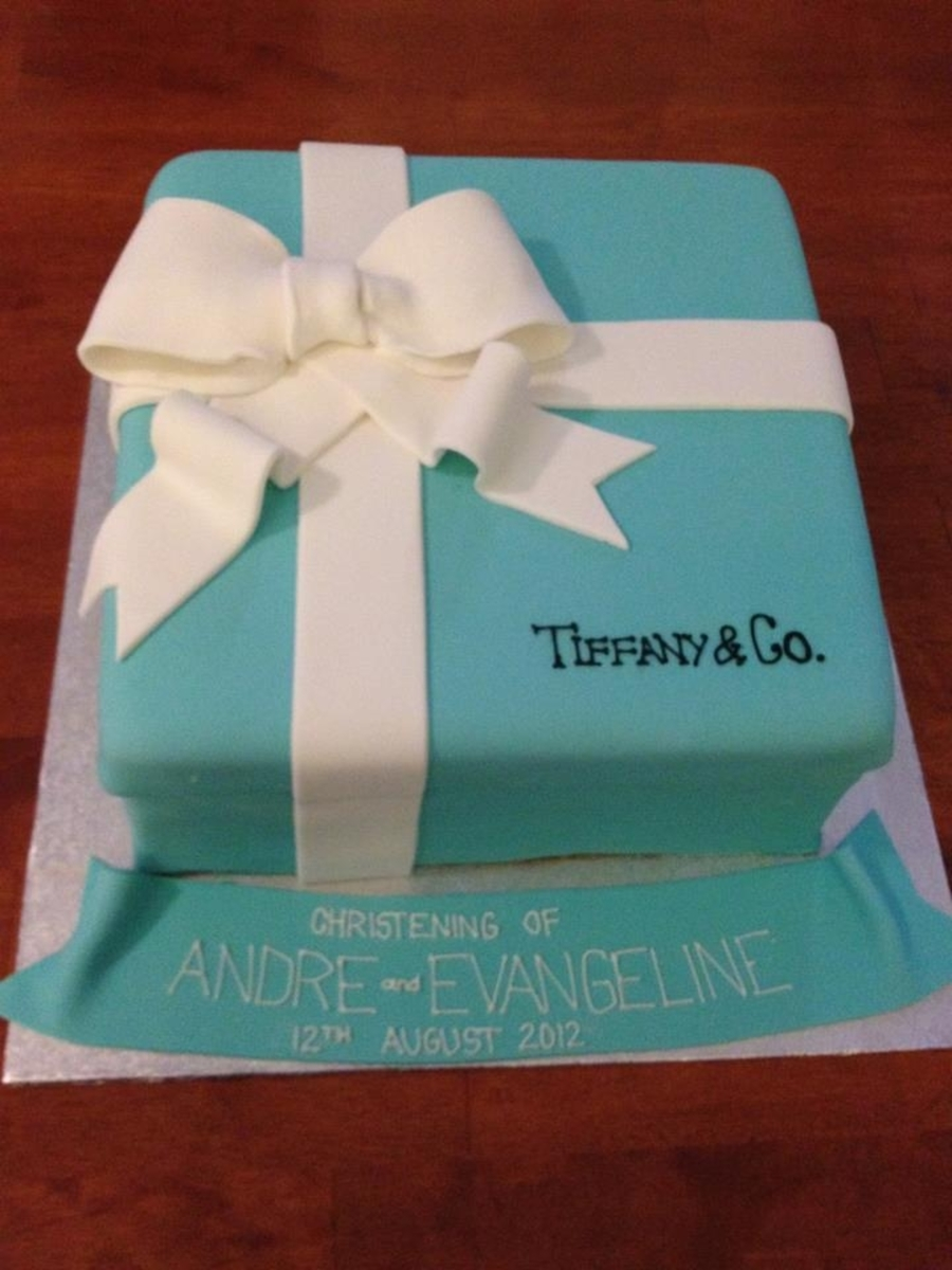 Christening Tiffany Box Cake on Cake Central