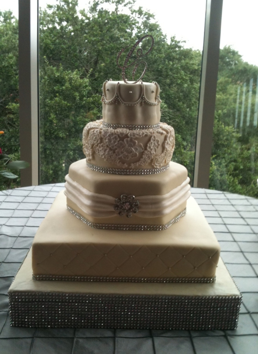 Different Shaped Wedding Cake on Cake Central