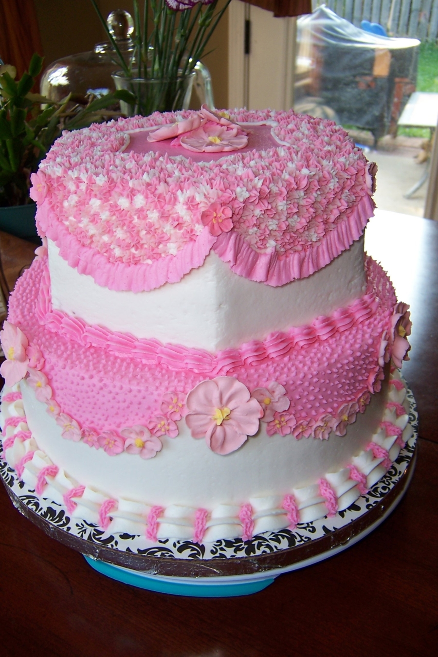 Little Pink Flowers Cakecentral