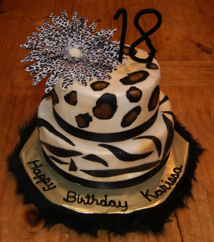 Leopard Print Birthday Cake Cakecentral