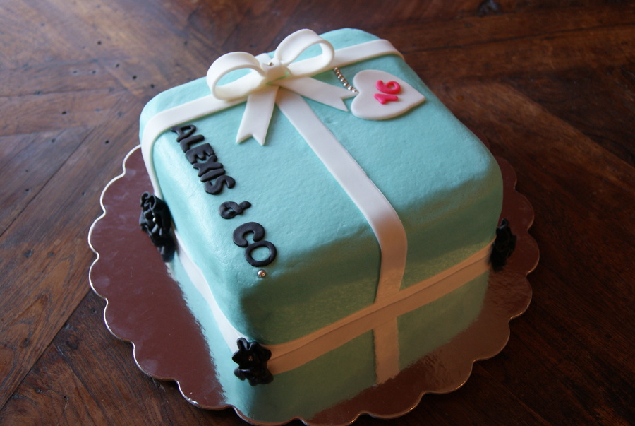 Sweet 16 Cake In A Tiffany Gift Box Design All Buttercream W Fondant Accents on Cake Central
