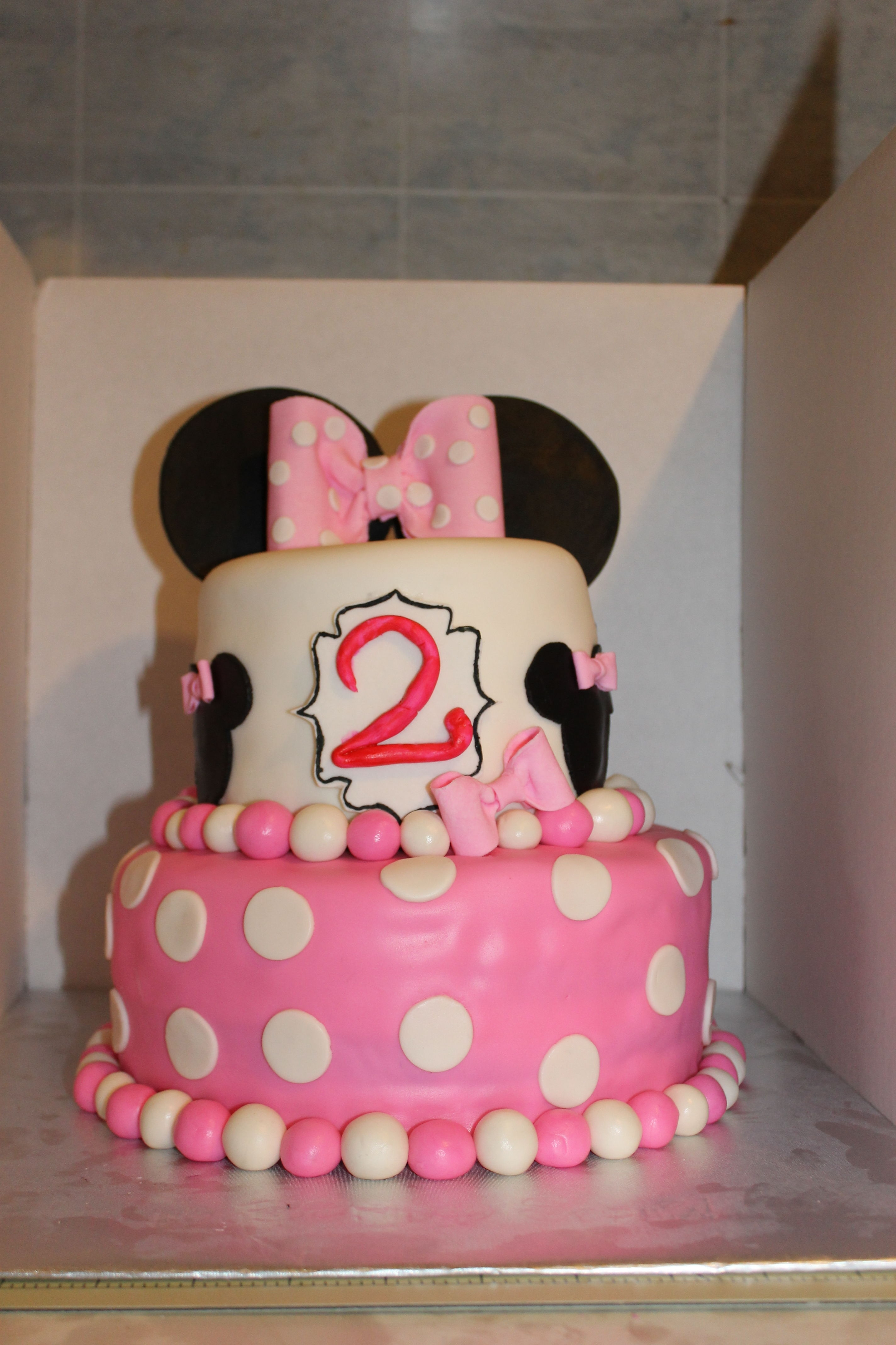 Minnie Mouse 2Nd Birthday Cake CakeCentralcom