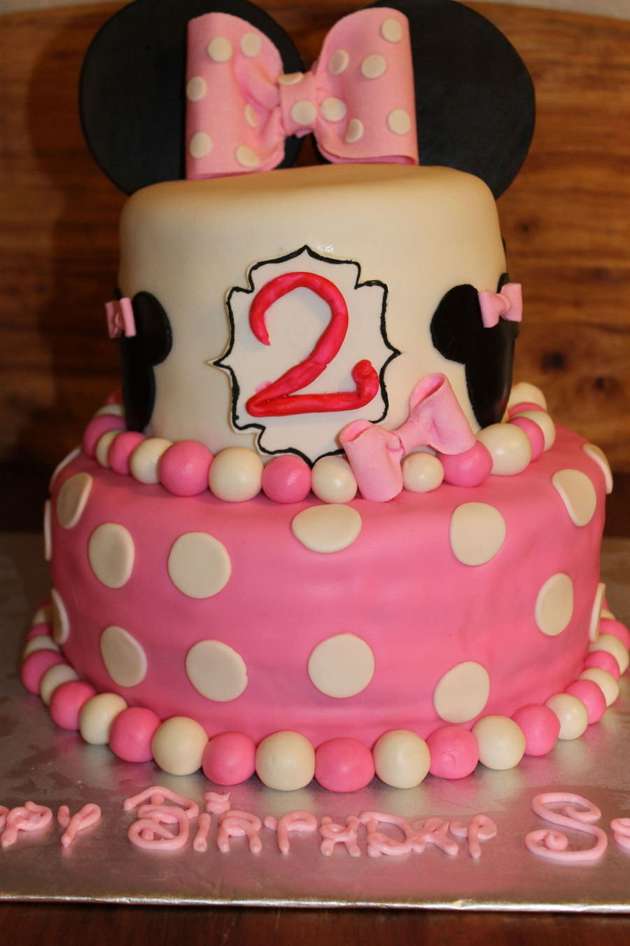 Minnie Mouse 2nd Birthday Cake Cakecentral Com