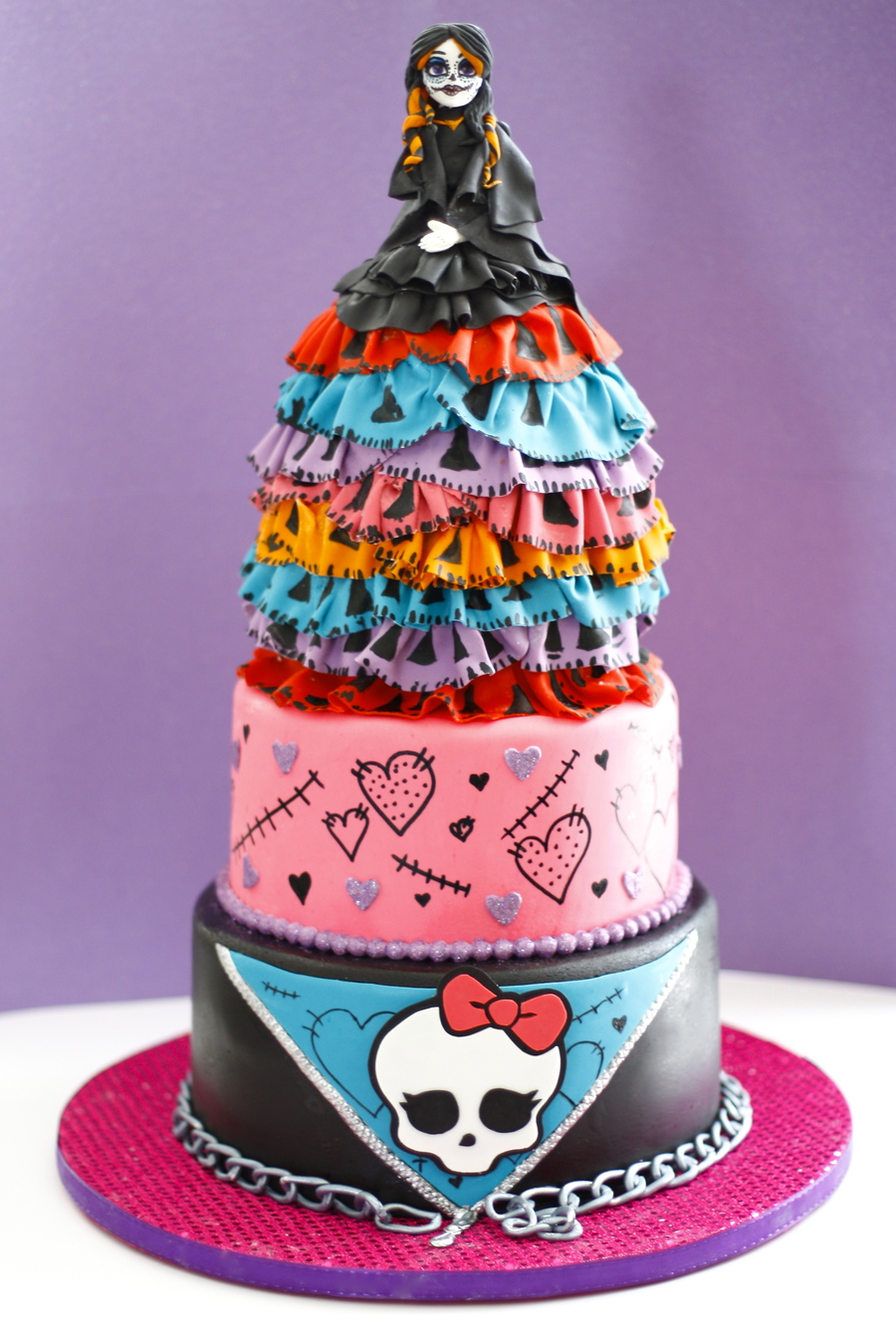 Awesome Monster High Birthday Cake Cakecentral Com Funny Birthday Cards Online Inifofree Goldxyz