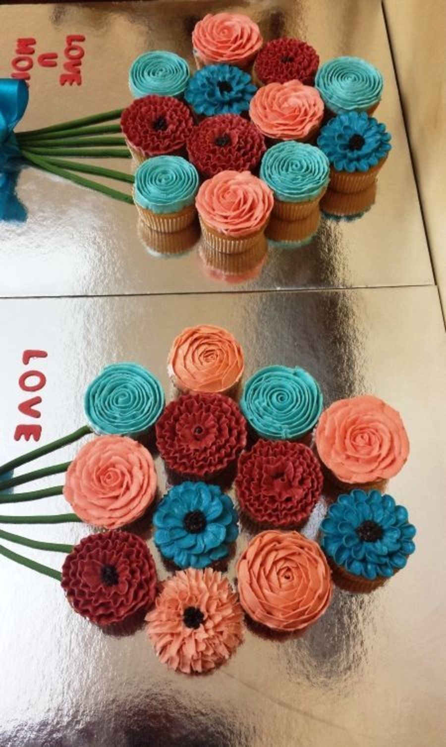 Buttercream Cupcake Bouquet Done For Mothers Day on Cake Central