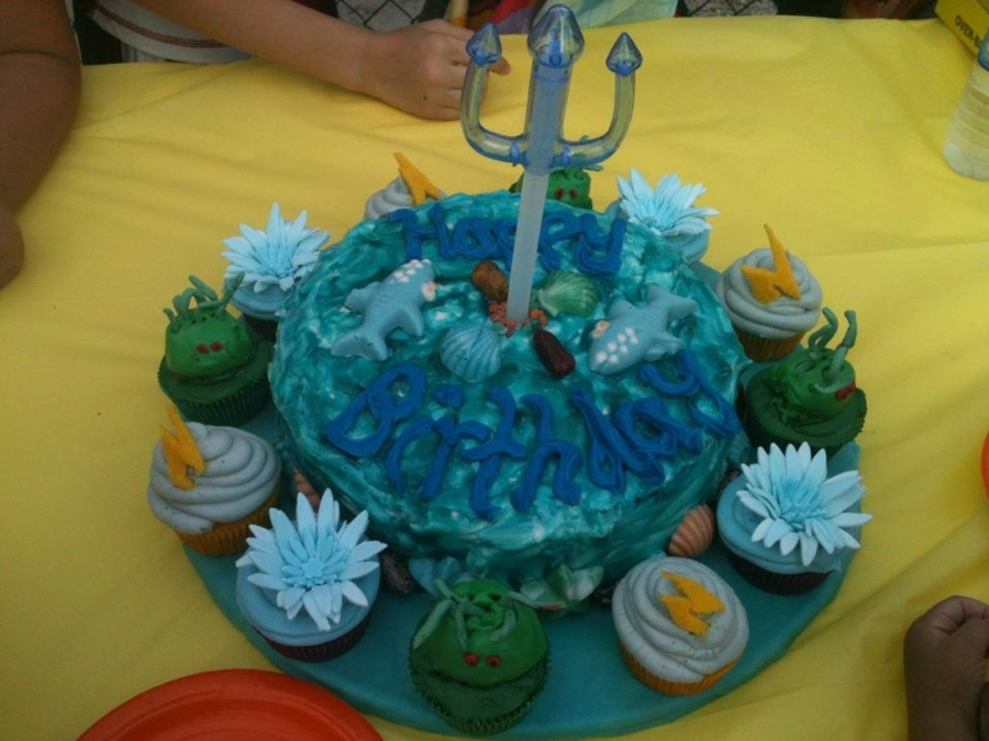 Poseidon Birthday Cake