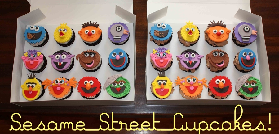 Sesame Street Cupcakes  on Cake Central