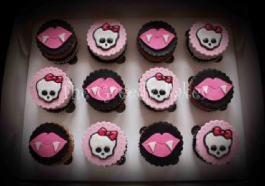Monster High Cuppies Fondant Discs With Gumpaste And Royal Icing Detailing on Cake Central