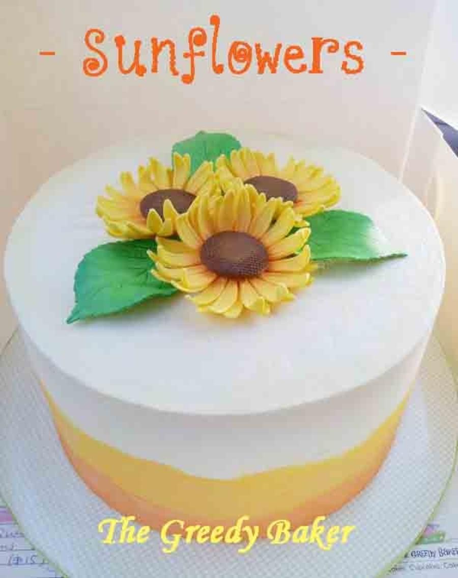 Stupendous Sunflower Birthday Cake Cakecentral Com Funny Birthday Cards Online Necthendildamsfinfo